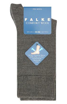 Детские шерстяные носки FALKE светло-серого цвета, арт. 10488 | Фото 1