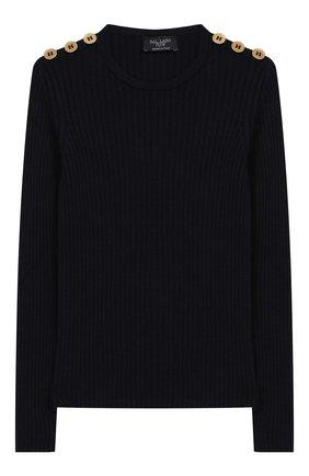 Детский шерстяной пуловер DAL LAGO темно-синего цвета, арт. R567/8325/4-6 | Фото 1