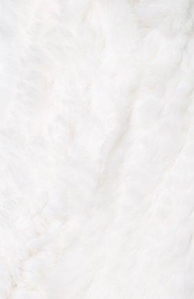 Детский меховой шарф YVES SALOMON ENFANT бежевого цвета, арт. 7WEA320XXKREX | Фото 2