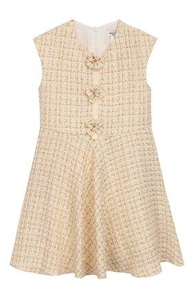 Детское твидовое платье DAVID CHARLES белого цвета, арт. 741 | Фото 1