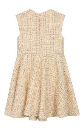 Детское твидовое платье DAVID CHARLES белого цвета, арт. 741 | Фото 2