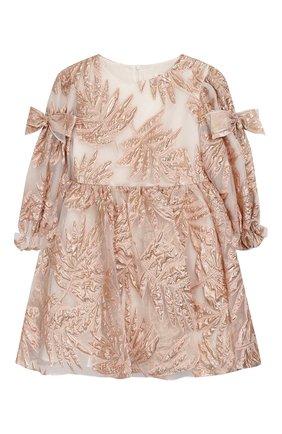 Детское платье DAVID CHARLES розового цвета, арт. 721 | Фото 1