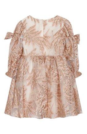 Детское платье DAVID CHARLES розового цвета, арт. 721 | Фото 2