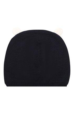 Детский комплект из шапки и шарфа MONCLER ENFANT синего цвета, арт. E2-951-99805-06-A9293 | Фото 3