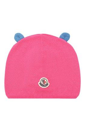 Детский комплект из шапки и шарфа MONCLER ENFANT фуксия цвета, арт. E2-951-99805-06-A9293 | Фото 2