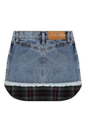 Детская джинсовая юбка NATASHA ZINKO синего цвета, арт. FW19MNZ303-83/3-8 | Фото 2