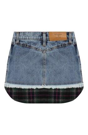 Детская джинсовая юбка NATASHA ZINKO синего цвета, арт. FW19MNZ303-83/10-14 | Фото 2