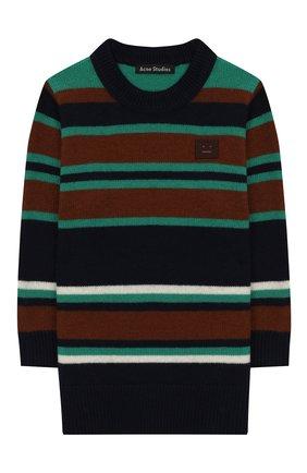 Детский шерстяной пуловер ACNE STUDIOS синего цвета, арт. D60004   Фото 1