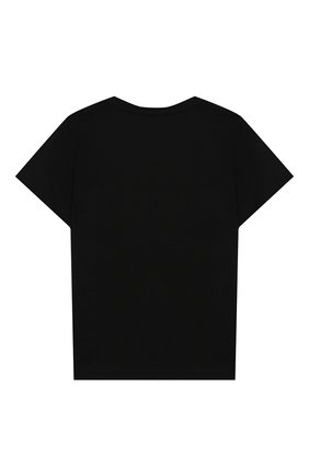 Детская хлопковая футболка ACNE STUDIOS черного цвета, арт. 2NH173 | Фото 2