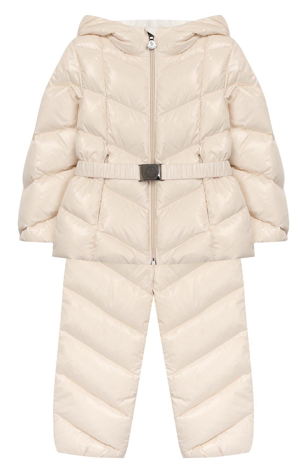 Детский комплект из куртки и комбинезона MONCLER светло-розового цвета, арт. E2-951-75327-05-68950/18M-3A | Фото 1