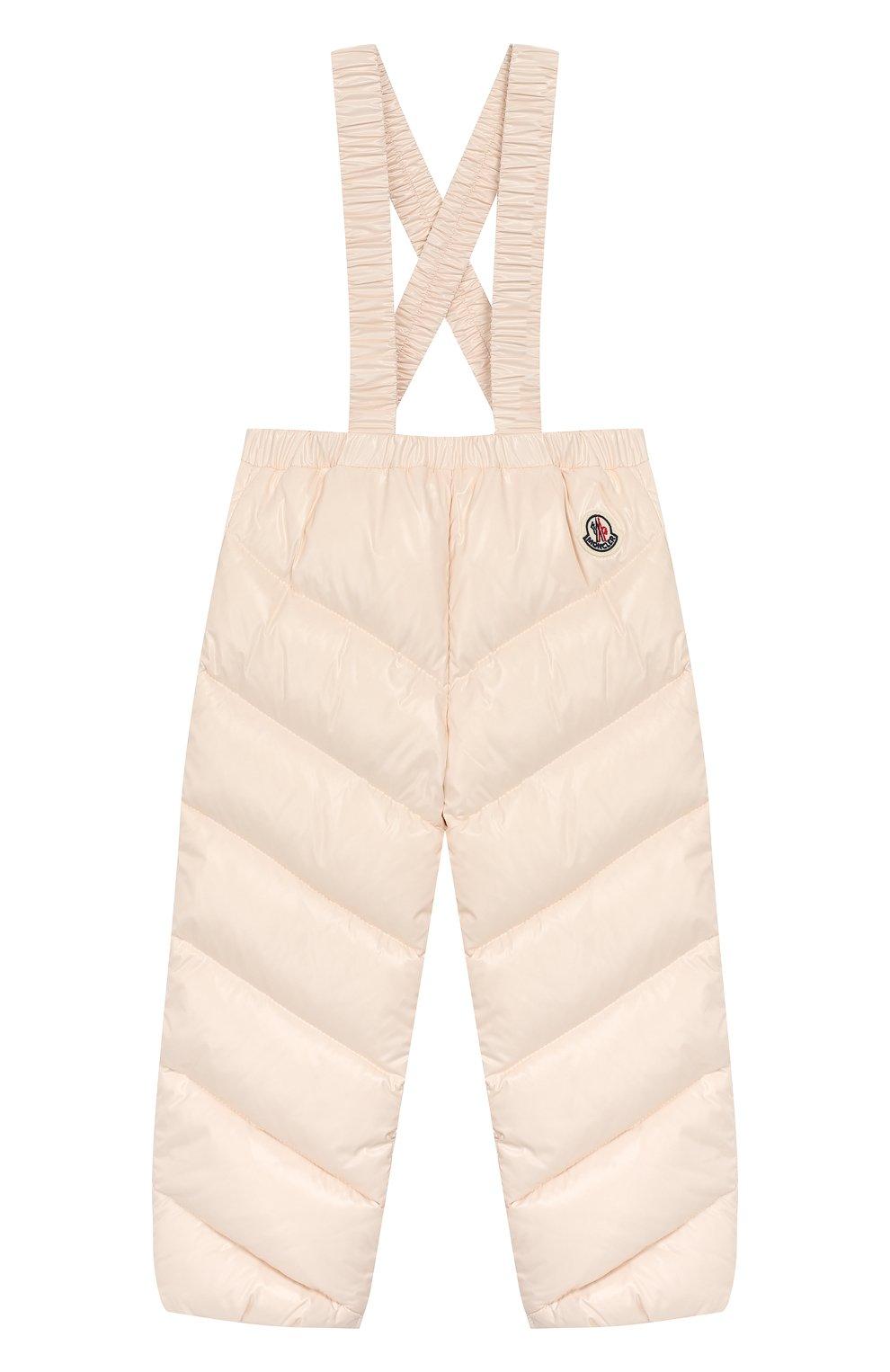 Детский комплект из куртки и комбинезона MONCLER светло-розового цвета, арт. E2-951-75327-05-68950/18M-3A | Фото 4