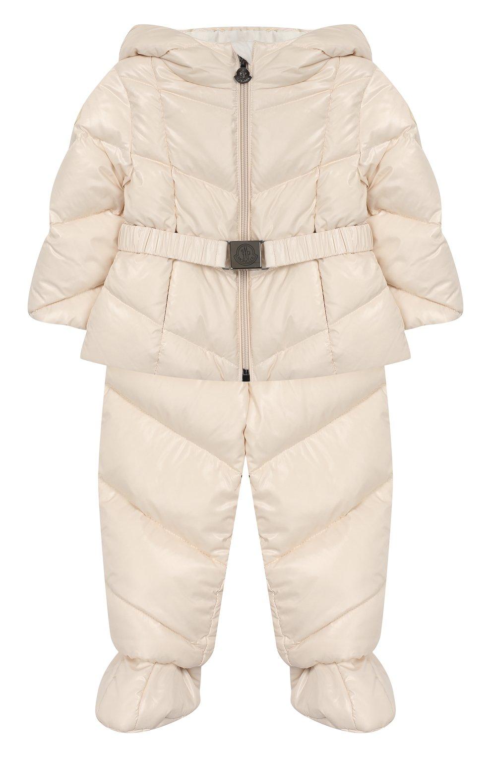 Детский комплект из куртки и комбинезона MONCLER светло-розового цвета, арт. E2-951-75327-05-68950/3M-18M   Фото 1