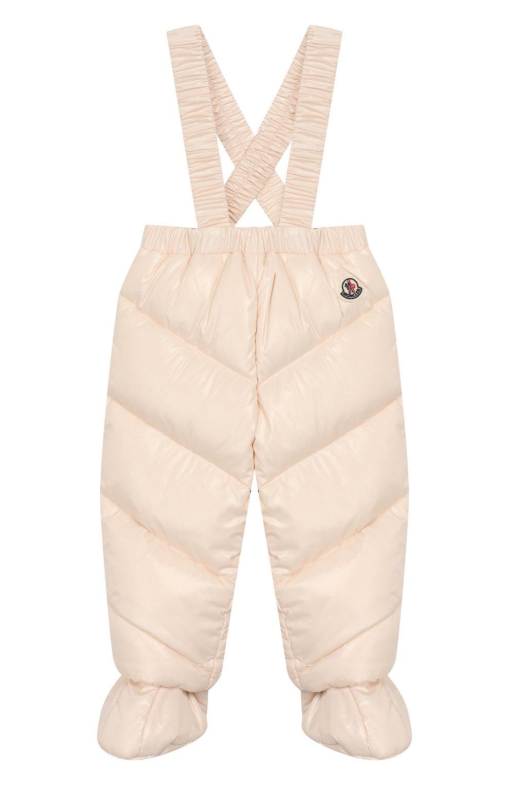 Детский комплект из куртки и комбинезона MONCLER светло-розового цвета, арт. E2-951-75327-05-68950/3M-18M   Фото 4