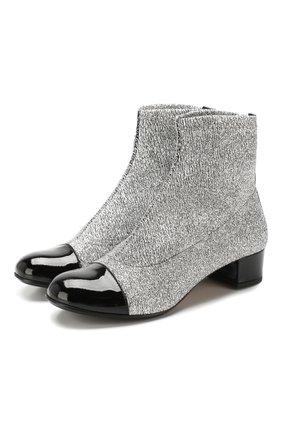 Детские текстильные ботинки MISSOURI серебряного цвета, арт. 81457 A/31-34 | Фото 1