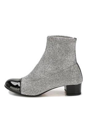 Детские текстильные ботинки MISSOURI серебряного цвета, арт. 81457 A/31-34 | Фото 2