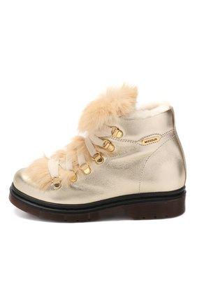 Кожаные ботинки с меховой отделкой   Фото №2