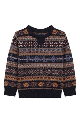 Детский шерстяной пуловер POLO RALPH LAUREN разноцветного цвета, арт. 321749925 | Фото 1