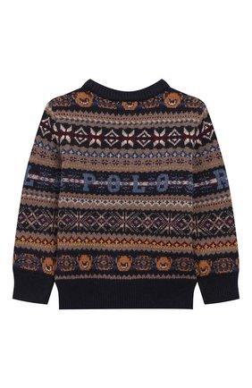 Детский шерстяной пуловер POLO RALPH LAUREN разноцветного цвета, арт. 321749925 | Фото 2