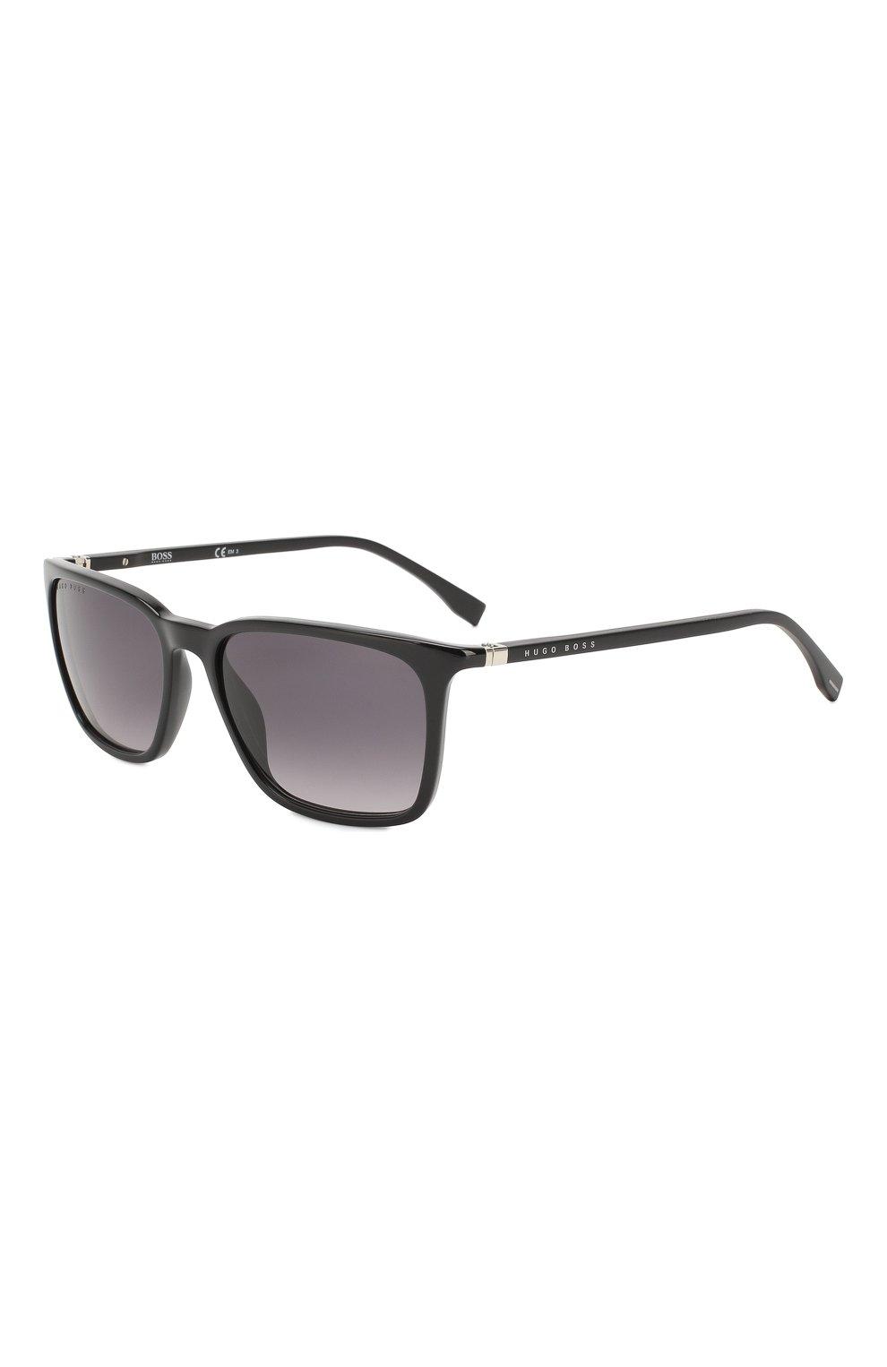 Женские солнцезащитные очки BOSS черного цвета, арт. 0959 807 | Фото 1