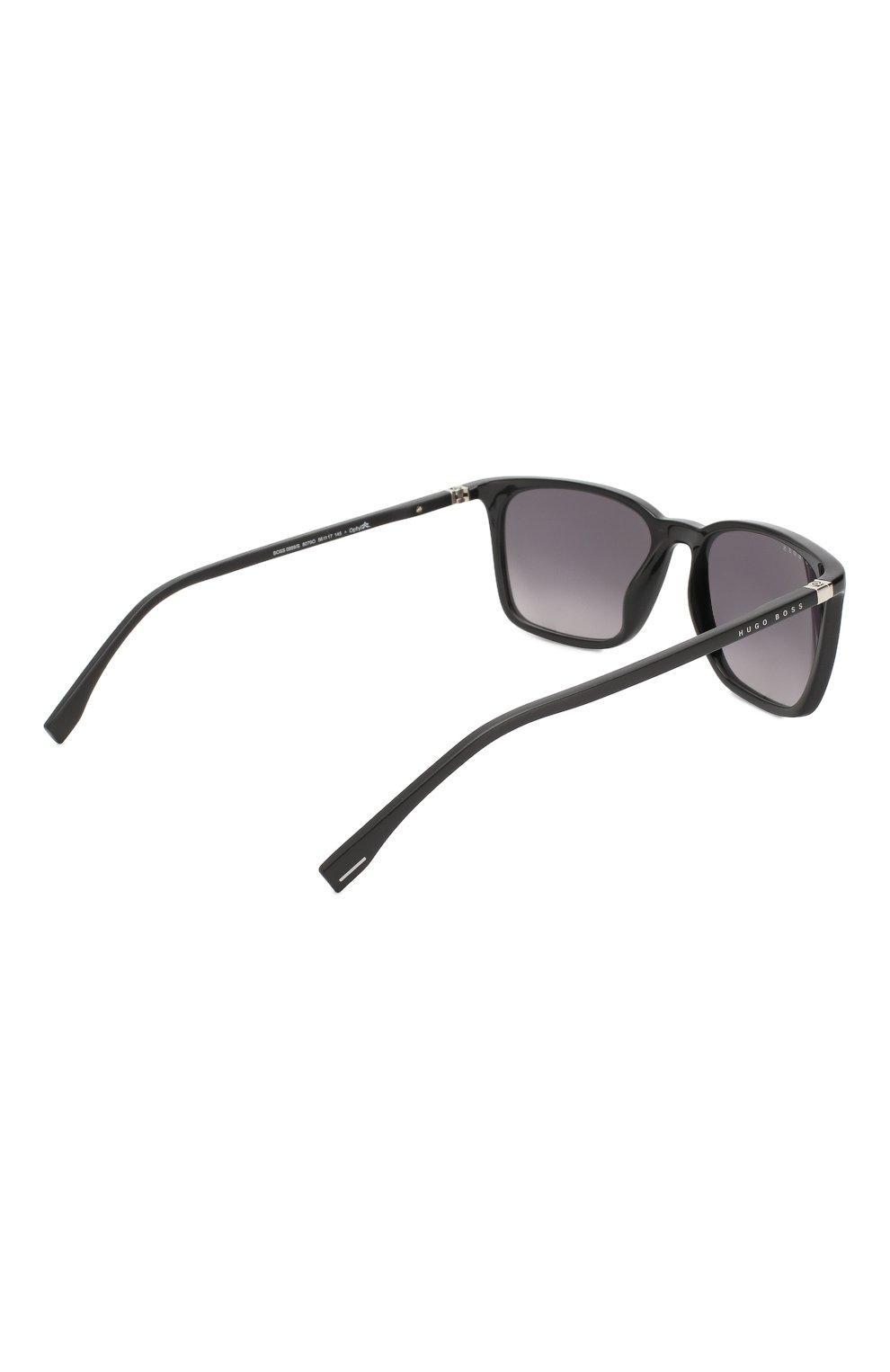 Женские солнцезащитные очки BOSS черного цвета, арт. 0959 807 | Фото 3