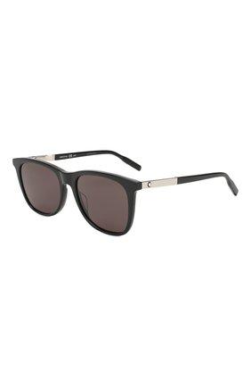 Мужские солнцезащитные очки MONTBLANC серого цвета, арт. MB0017 006 | Фото 1