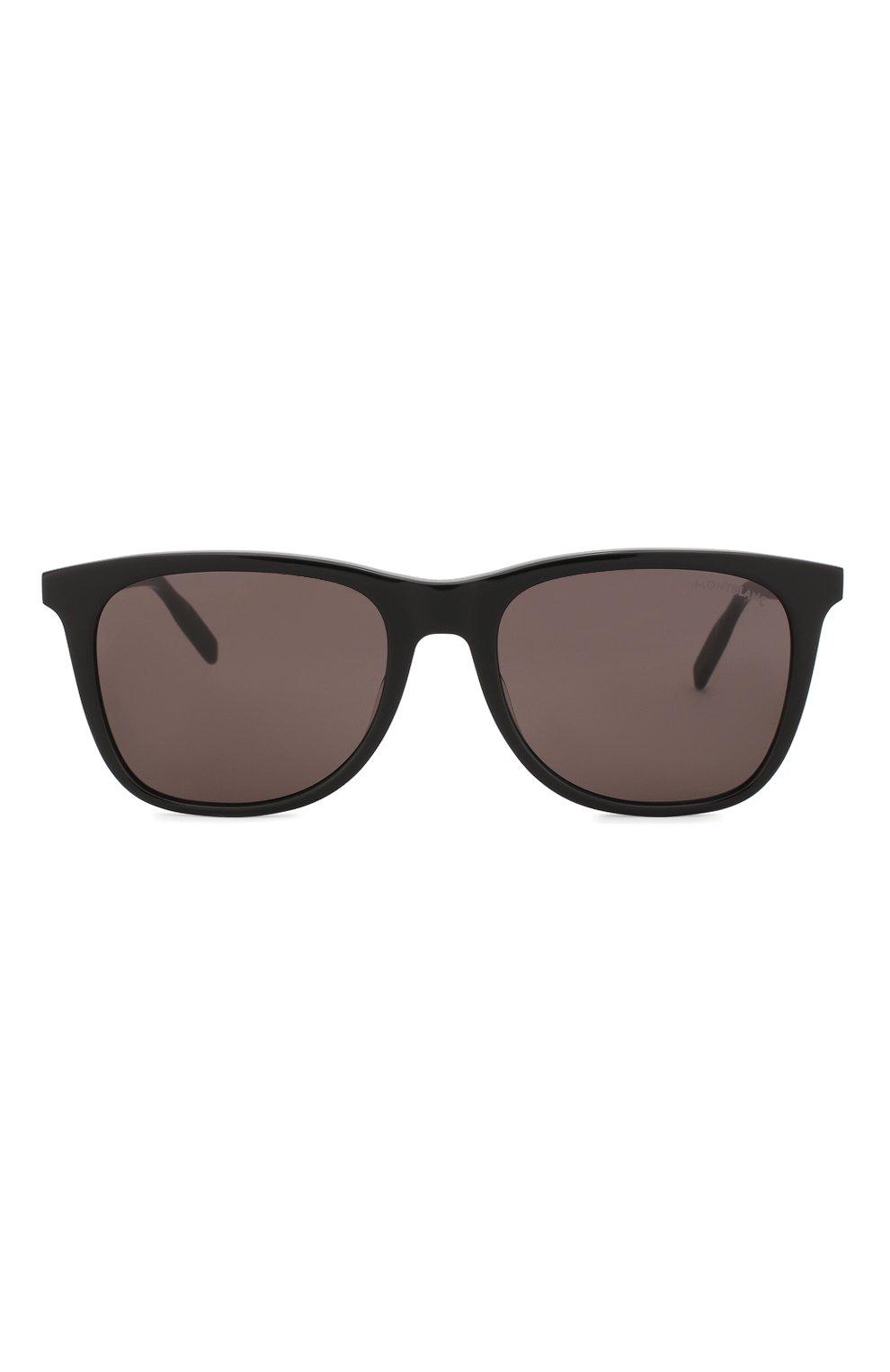 Мужские солнцезащитные очки MONTBLANC серого цвета, арт. MB0017 006 | Фото 2