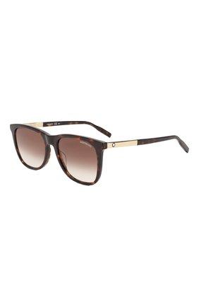 Мужские солнцезащитные очки MONTBLANC коричневого цвета, арт. MB0017 007 | Фото 1