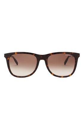 Мужские солнцезащитные очки MONTBLANC коричневого цвета, арт. MB0017 007 | Фото 2