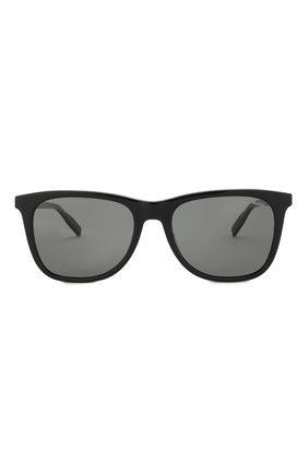 Мужские солнцезащитные очки MONTBLANC черного цвета, арт. MB0017 010 | Фото 2