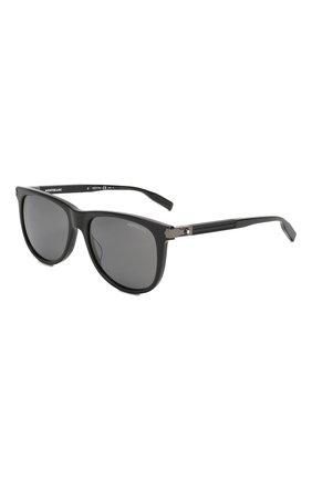 Мужские солнцезащитные очки MONTBLANC черного цвета, арт. MB0031 010 | Фото 1