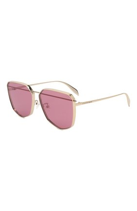 Женские солнцезащитные очки ALEXANDER MCQUEEN розового цвета, арт. AM0136 005 | Фото 1