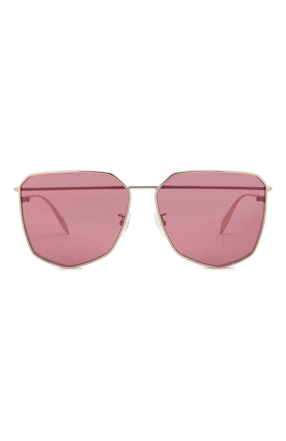 Женские солнцезащитные очки ALEXANDER MCQUEEN розового цвета, арт. AM0136 005 | Фото 3