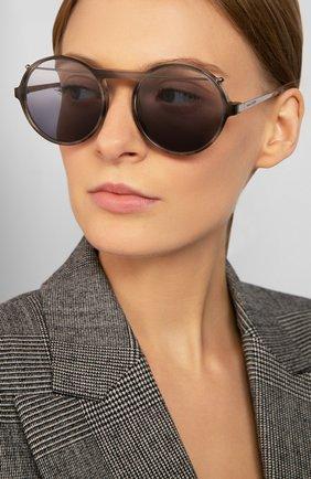 Женские солнцезащитные очки ALEXANDER MCQUEEN черного цвета, арт. AM0192 003 | Фото 2
