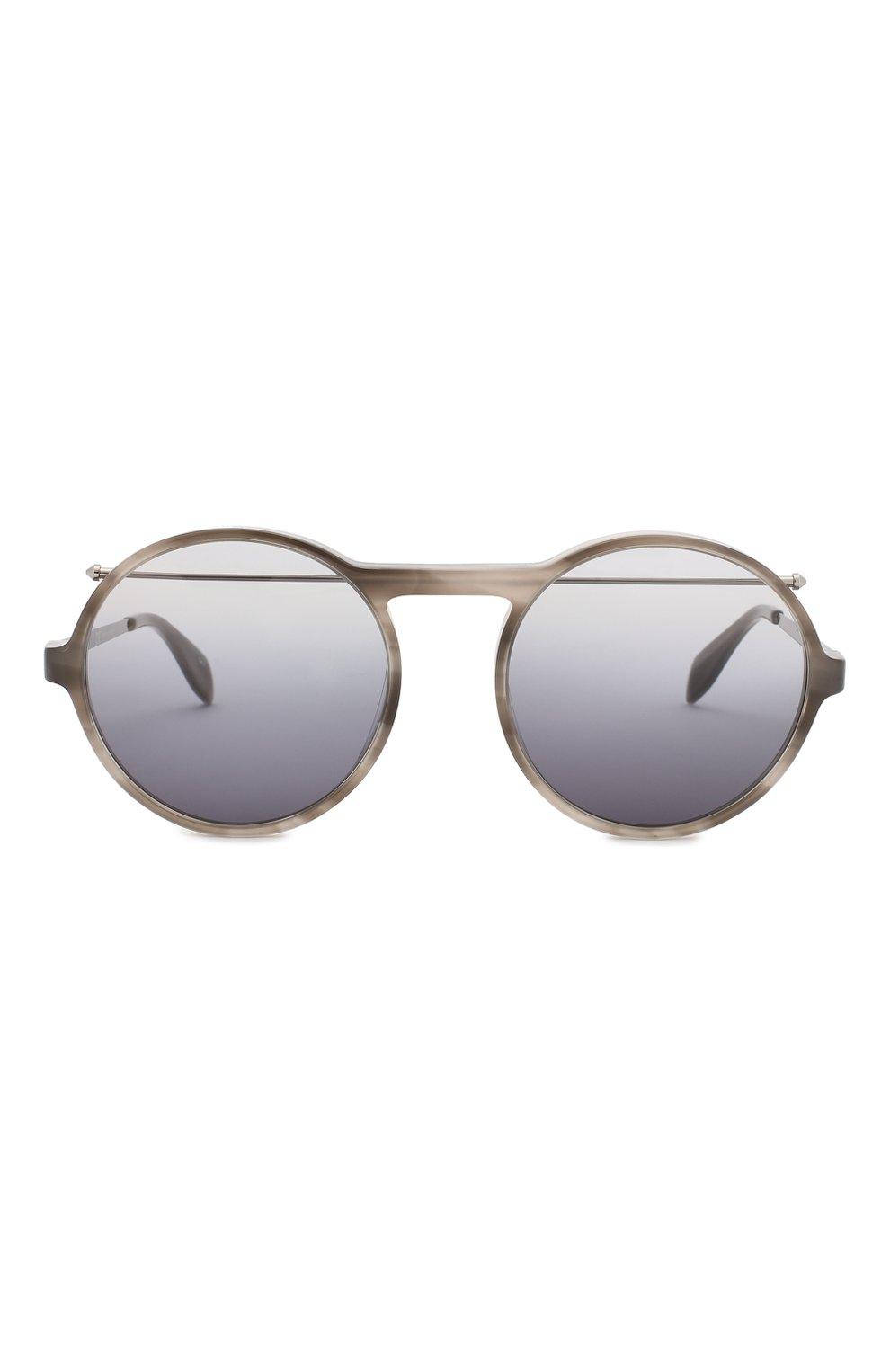 Женские солнцезащитные очки ALEXANDER MCQUEEN черного цвета, арт. AM0192 003 | Фото 3