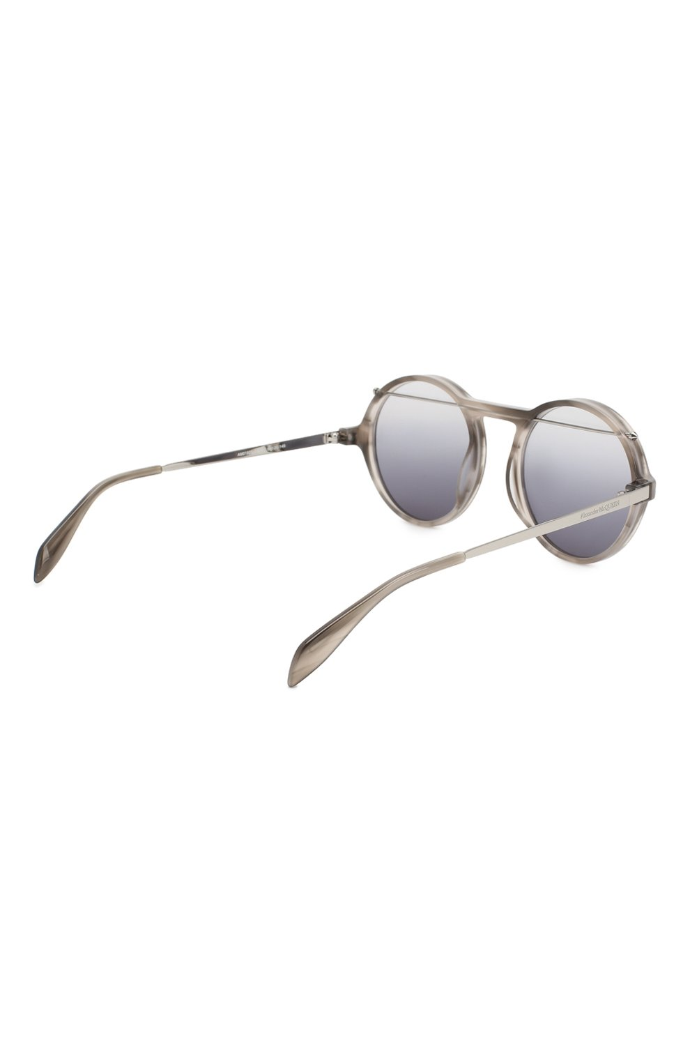 Женские солнцезащитные очки ALEXANDER MCQUEEN черного цвета, арт. AM0192 003 | Фото 4