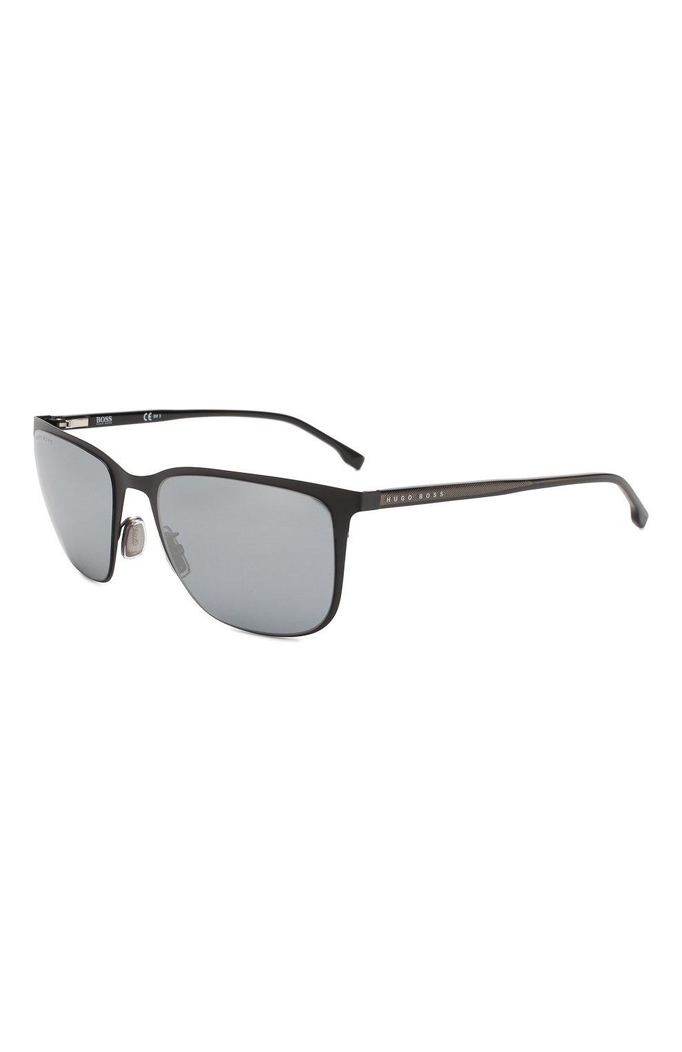 Мужские солнцезащитные очки BOSS черного цвета, арт. 1062/F 003 | Фото 1