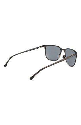 Мужские солнцезащитные очки BOSS черного цвета, арт. 1062/F 003 | Фото 3