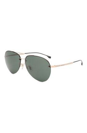 Мужские солнцезащитные очки BOSS зеленого цвета, арт. 1066/F 000 | Фото 1