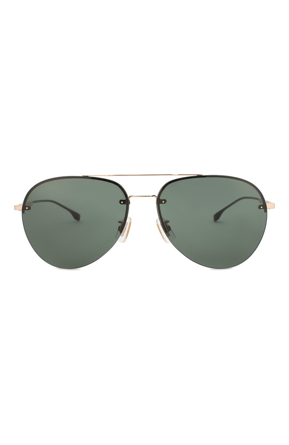 Мужские солнцезащитные очки BOSS зеленого цвета, арт. 1066/F 000   Фото 2