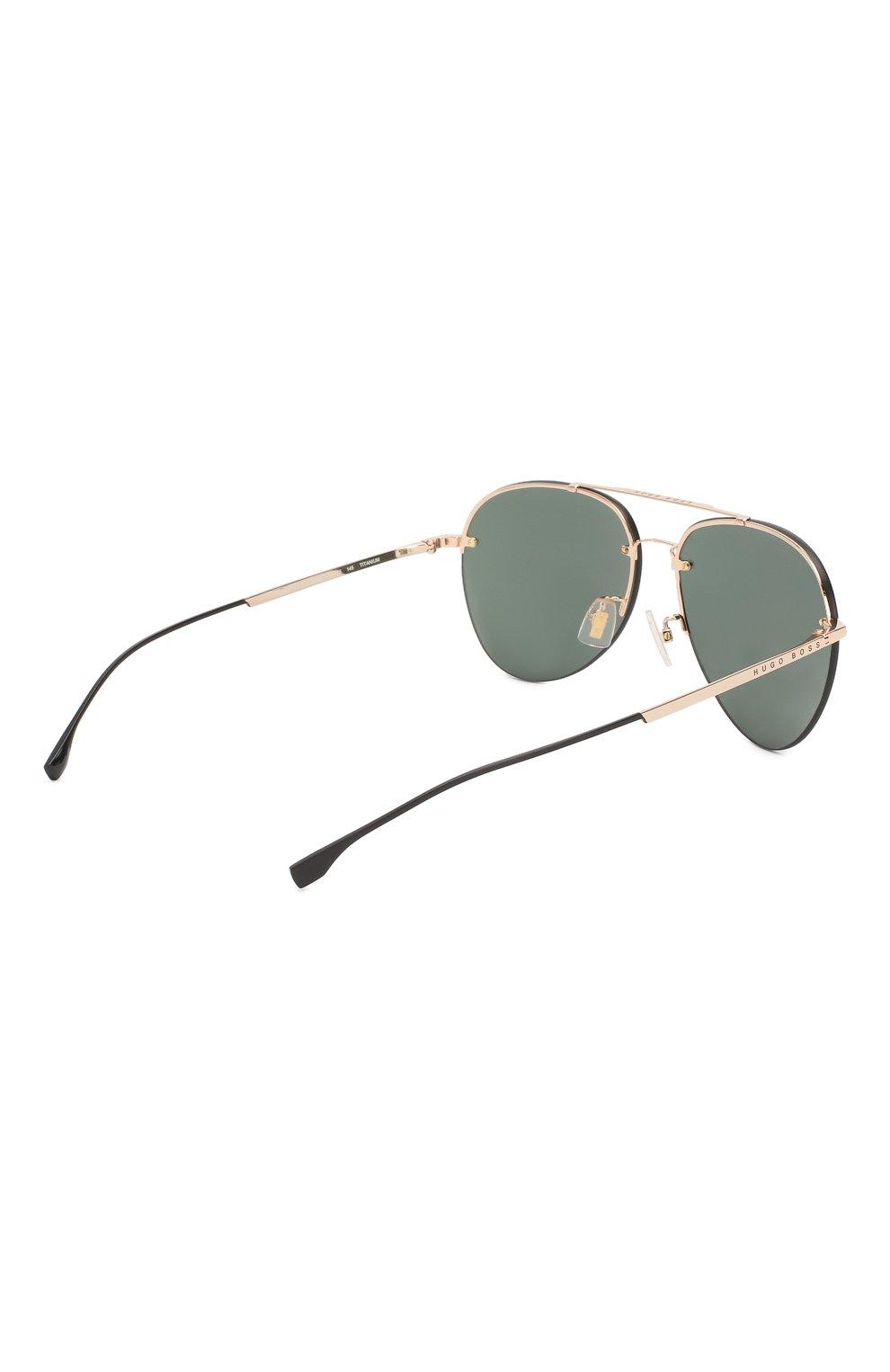 Мужские солнцезащитные очки BOSS зеленого цвета, арт. 1066/F 000   Фото 3