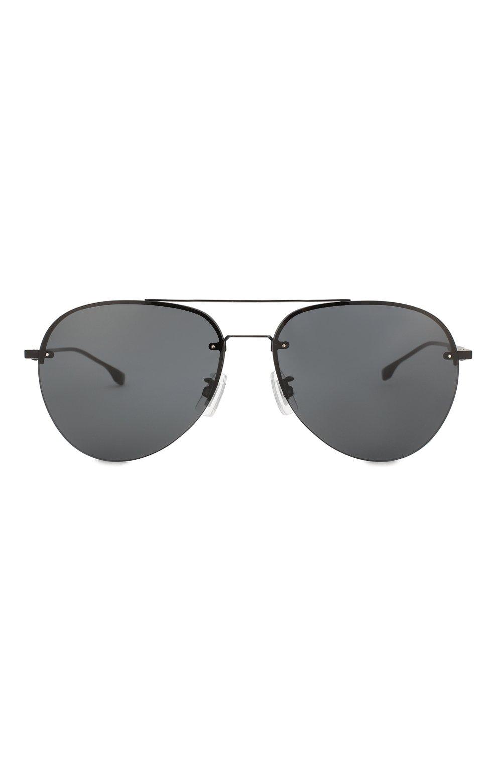 Мужские солнцезащитные очки BOSS черного цвета, арт. 1066/F 003   Фото 2