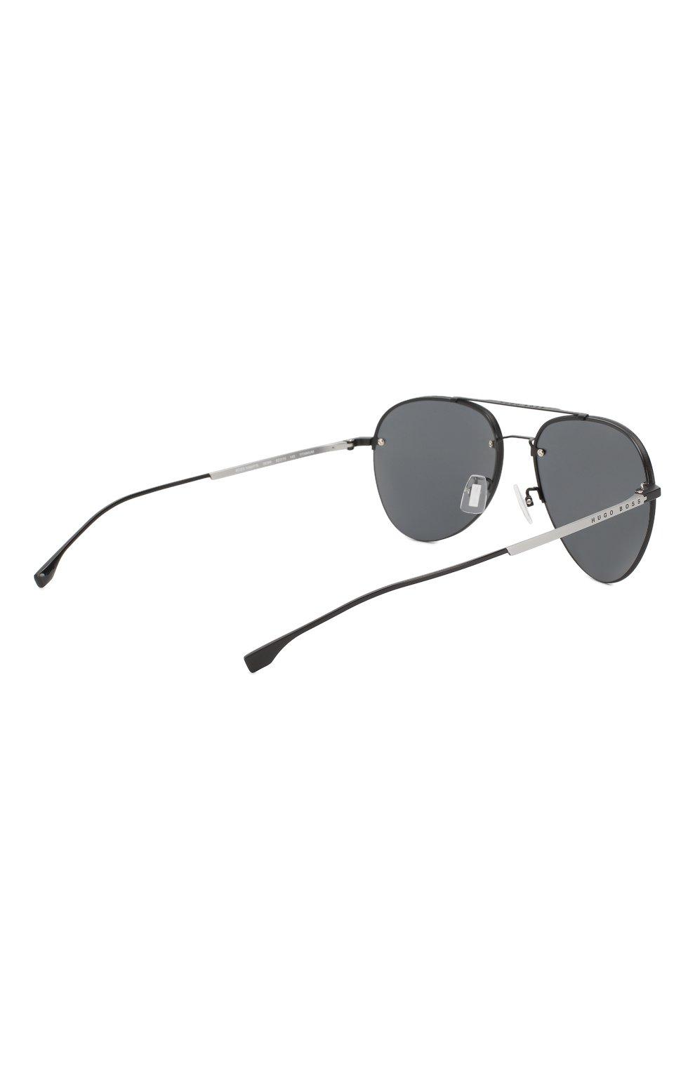Мужские солнцезащитные очки BOSS черного цвета, арт. 1066/F 003   Фото 3