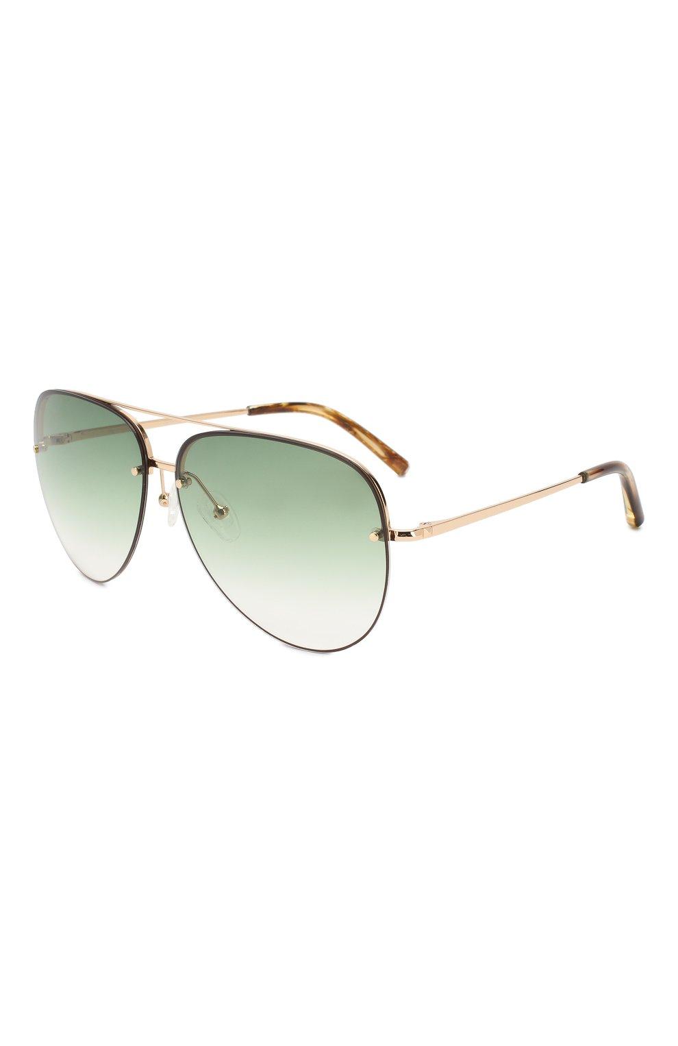 Женские солнцезащитные очки MATTHEW WILLIAMSON зеленого цвета, арт. MW240C2 SUN   Фото 1