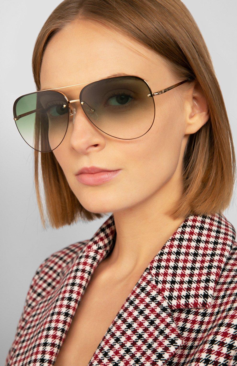 Женские солнцезащитные очки MATTHEW WILLIAMSON зеленого цвета, арт. MW240C2 SUN   Фото 2