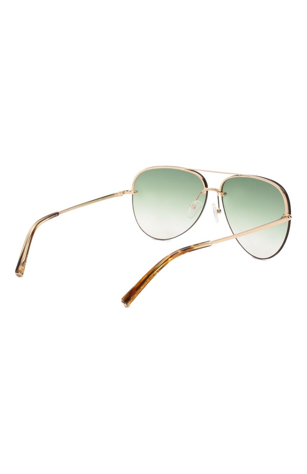Женские солнцезащитные очки MATTHEW WILLIAMSON зеленого цвета, арт. MW240C2 SUN   Фото 4