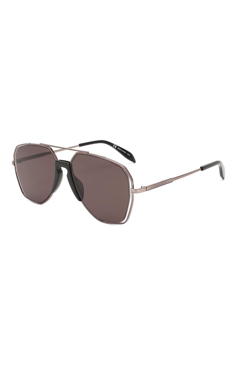Мужские солнцезащитные очки ALEXANDER MCQUEEN серого цвета, арт. AM0197 004 | Фото 1