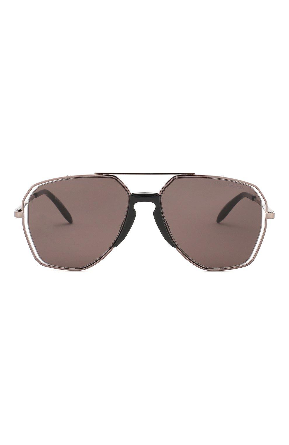 Мужские солнцезащитные очки ALEXANDER MCQUEEN серого цвета, арт. AM0197 004 | Фото 2