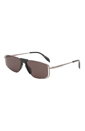 Мужские солнцезащитные очки ALEXANDER MCQUEEN черного цвета, арт. AM0198 004 | Фото 1