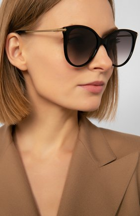 Женские солнцезащитные очки BOTTEGA VENETA серого цвета, арт. BV0231 001   Фото 2