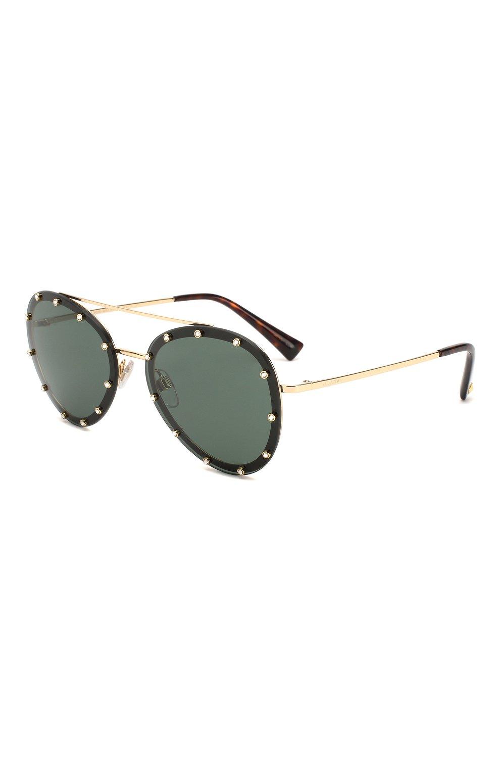 Женские солнцезащитные очки VALENTINO зеленого цвета, арт. 2013-300271 | Фото 1